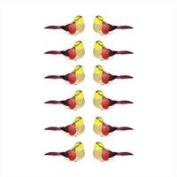 4.75 in. Delightful Red And Yellow Spotted Bird Christmas Ornaments