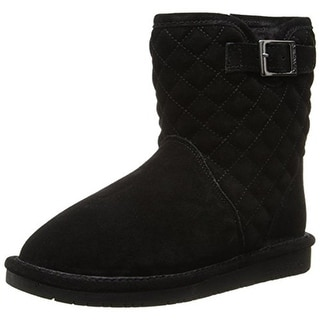Bearpaw Girls Leigh Anne Lined Suede Ankle Boots - 1 medium (b,m)