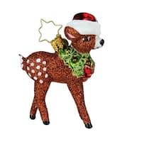 "3.25"" Christopher Radko ""Oh, Deer Me!"" Little Gem Christmas Tree Ornament #1019169"