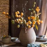 "RusticReach Artificial Pipa Fruit Long Stem 36"" Tall"