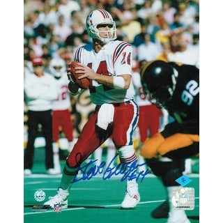 "Steve Grogan New England Patriots Autographed 8x10 Photo ""Vs Steelers"""