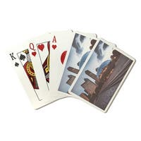Chicago, IL - Skyline & Bean - LP Photography (Poker Playing Cards Deck)