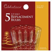 Celebrations 1265-2-71 Clear 3.5V Mini Replacement Bulbs