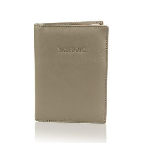 "Visconti Passport Wallet (TAUPE) - 4.0"" x 5.5"""