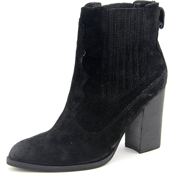 Dolce Vita Conway Women Pointed Toe Suede Black Ankle Boot