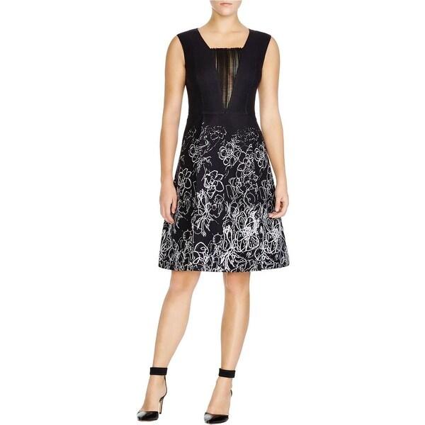 Elie Tahari Womens Lindsay Wear to Work Dress Printed Textured