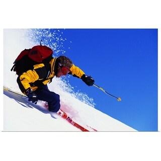 """Skier, close-up"" Poster Print"
