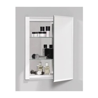 "Robern RC1620D4FB1 R3 16"" x 20"" x 4"" Beveled Single Door Medicine Cabinet with Reversible Hinge"