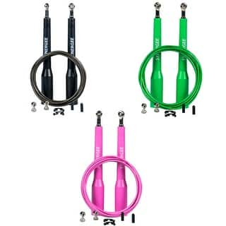Synergee Speed Jump Ropes - (2) Adjustable 10 Ft Cable and Steel Ball Bearings|https://ak1.ostkcdn.com/images/products/is/images/direct/a55d21c4c7eaa7f9bd009c88f3b17aad720deda0/%7C-CLEARANCE-SALE%21-SAVE-70%25-%7C-Synergee-Speed-Jump-Rope---%282%29-Adjustable-10-Ft-Cable---Steel-Ball-Bearings.jpg?impolicy=medium