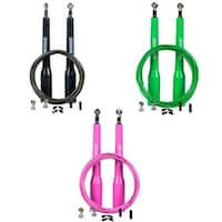 Synergee Speed Jump Ropes - (2) Adjustable 10 Ft Cable and Steel Ball Bearings