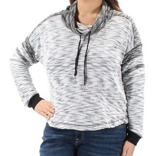 Womens Black Long Sleeve Cowl Neck Sweater Size XL