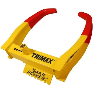 Trimax TCL75 Deluxe Universal Wheel Chock Lock-Yellow/Red - TCL75