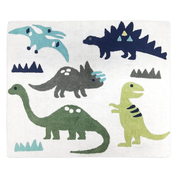 Sweet Jojo Designs Blue and Green Mod Dinosaur Collection Floor Rug. Opens flyout.