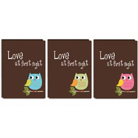 """Baby Owl Brag Book Picture Album 4""""X6"""" 36 Pockets-Assorted Colors"""