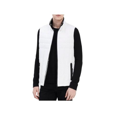 Calvin Klein Mens Outerwear Vest Logo Puffer - M