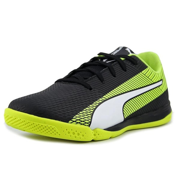 8e04c6ee0b4a Shop Puma evoSPEED Star S Jr Boy Black-White-Yellow Athletic Shoes ...