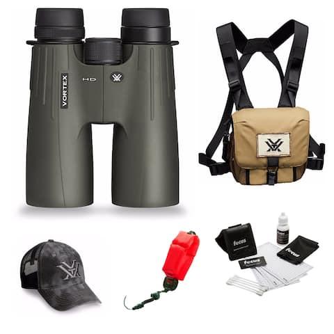 Vortex Optics Viper HD 10x50 Roof Prism Binocular w/ Harness Bundle