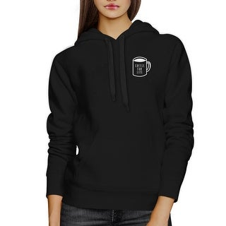 Coffee For Life Black Hoodie Pullover Fleece For Coffee Lovers