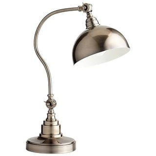 Cyan Design Chemile Desk Lamp Chemile Single Light Accent Desk Lamp with Silver Shade