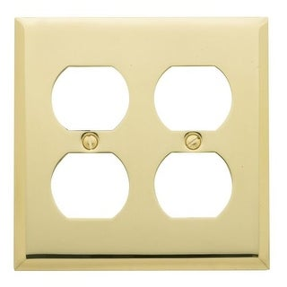 Baldwin 4771 Beveled Edge Solid Brass Double Duplex Switchplate