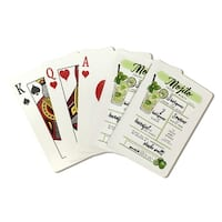 Mojito - Cocktail Recipe - Lantern Press Artwork (Poker Playing Cards Deck)