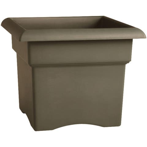 "Fiskars 57714 Rectangular Shape Veranda Box 14"", Cement"