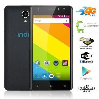 "Indigi Unlocked QuadCore 5.0"" Android 6.0 DualSim 4G Smart Phone AT&T T-Mobile - Black"