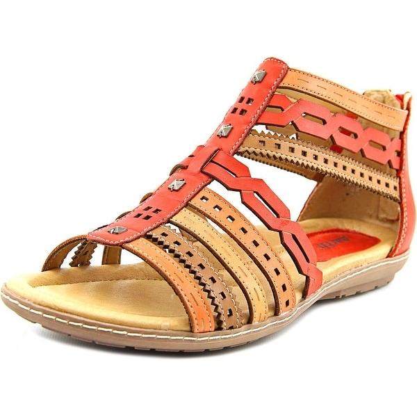 Earth Bay Women Open Toe Leather Multi Color Gladiator Sandal