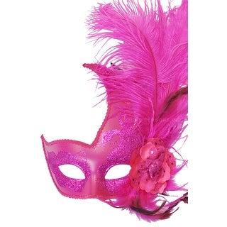 Pure Seasons Cigno Rosa Venetian Mask (Hot Pink) - Pink