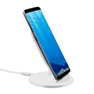 TechComm M8 Wireless Charger with Wide Angle and Ergonomic Stand Design - 5W or 10W