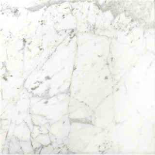 "Emser Tile M01BIAN1818H  Marble - 18"" x 18"" Square Floor and Wall Tile - Honed Marble Visual - Bianco Gioia"