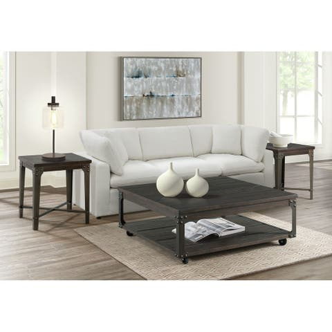 Picket House Furnishings Cera 2PC Occasional Table Set with USB
