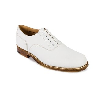 Churchs Womens Bella White Leather Derby Shoes