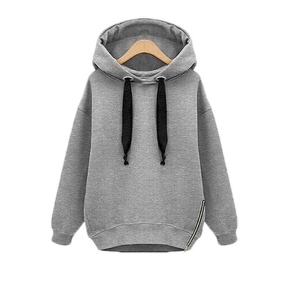 Shop Women Oversized Hoodies Long Sweatshirt Side Zip Jacket