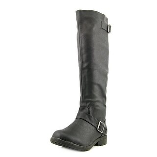 Vybe Moto   Round Toe Synthetic  Knee High Boot