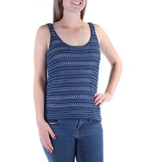 RALPH LAUREN Womens New 1349 Navy Scoop Neck Sleeveless Crop Top Sweater M B+B