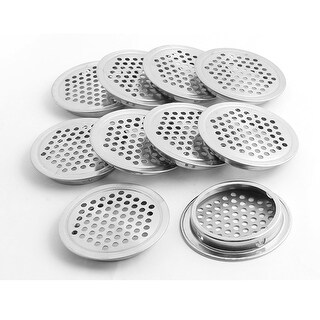 Unique Bargains 53mm Bottom Dia Round Flat Panel Cupboard Cabinet Air Vent Cover 10pcs