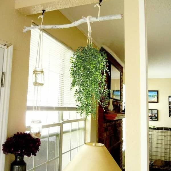 Shop Hogado 2pcs Artificial Ivy Fake Hanging Vine Plants Decor Plastic Greenery For Home Wall Indoor Outdside Hanging Basket Overstock 27727928
