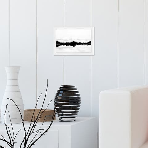 Oliver Gal 'Stood Still Black' Nature and Landscape Framed Wall Art Prints Mountains - Black, White