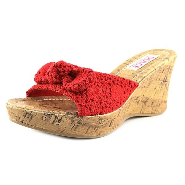 Dolce by Mojo Moxy Piper Women Open Toe Canvas Wedge Sandal