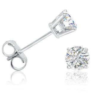 Amanda Rose 1 2ct Tw Round Diamond Stud Earrings Set In 14k White Gold