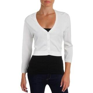Lauren Ralph Lauren Womens Cardigan Top Cropped 3/4 Sleeves - l