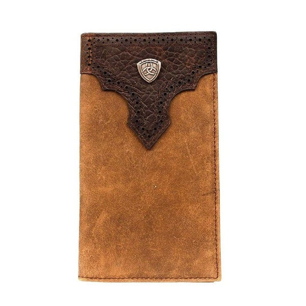 Ariat Western Wallet Mens Rodeo Distressed Medium Brown - One size
