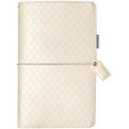 "Diamond White - Color Crush Faux Leather Travelers' Planner 5.75""X8"""
