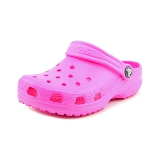 Crocs Classic Kids Youth Round Toe Synthetic Pink Clogs