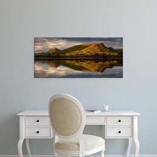 Easy Art Prints Panoramic Image 'Mountains, Loch Awe, Argyll and Bute, Scottish Highlands, Scotland' Canvas Art