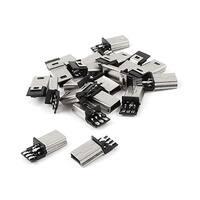 20 Pcs Mini USB 5Pin Type B Male Connector PCB Mounting Solder Plug Jack