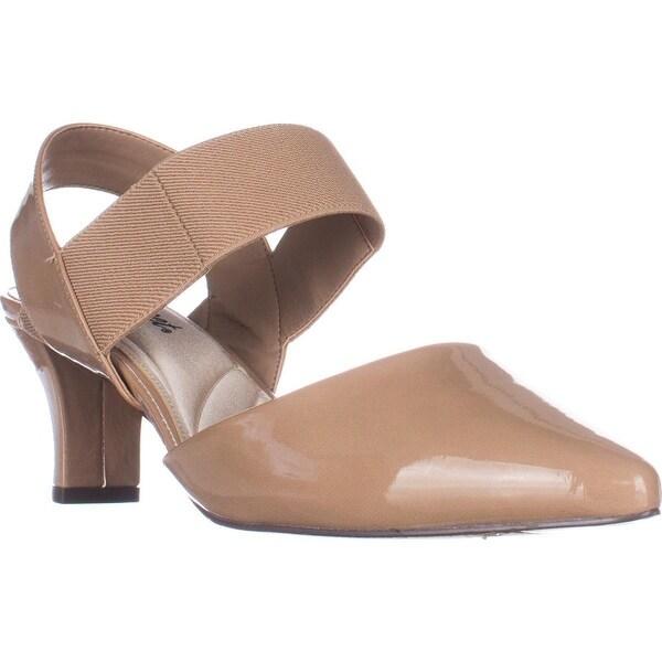 Easy Street Vibrant Slingback Heels, Nude