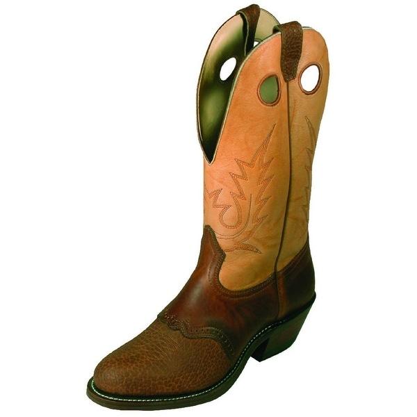 Boulet Western Boots Mens Cowboy Buckaroo Cognac Butterscotch