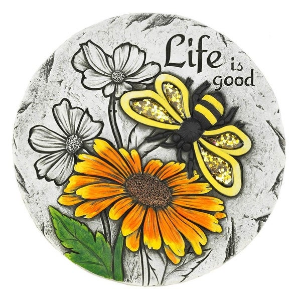 Modern Life Is Good Sunflower Stepping Stone
